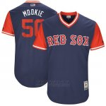 Camiseta Beisbol Hombre Boston Red Sox 2017 Little League World Series 50 Mookie Betts Azul