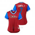 Camiseta Beisbol Mujer Philadelphia Phillies Maikel Franco 2018 Llws Players Weekend Compa F Scarlet