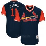 Camiseta Beisbol Hombre St. Louis Cardinals 2017 Little League World Series Paul Dejong Azul