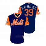 Camiseta Beisbol Hombre New York Mets Jerry Blevins 2018 Llws Players Weekend Jer Ry Jer Ry Jer Ry Royal