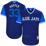 Camiseta Beisbol Hombre Toronto Blue Jays 2017 Little League World Series Ja Happ Royal