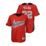 Camiseta Beisbol Nino All Star Game Majestic Christian Yelich 2018 Primera Run Derby National League Rojo