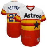 Camiseta Beisbol Hombre Houston Astros Houston Astros Blanco 1977 Turn Back The Clock