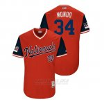 Camiseta Beisbol Hombre Washington Nationals Bryce Harper 2018 Llws Players Weekend Mondo Rojo