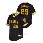 Camiseta Beisbol Hombre Pittsburgh Pirates Francisco Cervelli Throwback 1979 World Series Negro