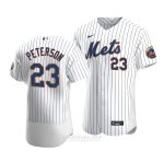 Camiseta Beisbol Hombre New York Mets David Peterson Autentico Primera Blanco
