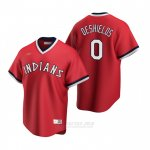 Camiseta Beisbol Hombre Cleveland Indians Delino Deshields Cooperstown Collection Road Rojo