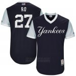 Camiseta Beisbol Hombre New York Yankees 2017 Little League World Series Austin Romine Azul
