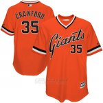 Camiseta Beisbol Hombre San Francisco Giants Brandon Crawford Naranja Turn Back The Clock