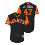 Camiseta Beisbol Hombre San Francisco Giants Johnny Cueto 2018 Llws Players Weekend El Jucho Negro