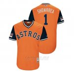 Camiseta Beisbol Hombre Houston Astros Carlos Correa 2018 Llws Players Weekend Showrrea Orange