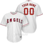 Camiseta Los Angeles Angels Personalizada Blanco
