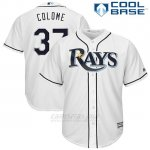 Camiseta Beisbol Hombre Tampa Bay Rays Alex Colome Blanco Cool Base