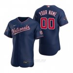 Camiseta Beisbol Hombre Washington Nationals Personalizada Autentico Azul