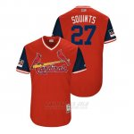 Camiseta Beisbol Hombre St. Louis Cardinals Brett Cecil 2018 Llws Players Weekend Squints Rojo
