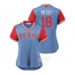 Camiseta Beisbol Mujer Texas Rangers Drew Robinson 2018 Llws Players Weekend Petey Light Toronto Blue Jays