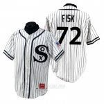 Camiseta Beisbol Hombre Chicago White Sox Carlton Fisk 1990 Turn Back The Clock Blanco