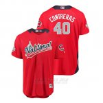 Camiseta Beisbol Hombre All Star Game Chicago Cubs Willson Contreras 2018 Primera Run Derby National League Rojo