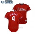 Camiseta Beisbol Nino Philadelphia Phillies Scott Kingery Cool Base Majestic Alterno Replica Rojo