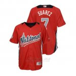 Camiseta Beisbol Nino All Star Game Majestic Eugenio Suarez 2018 Primera Run Derby National League Rojo