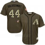 Camiseta Beisbol Hombre Arizona Diamondbacks 44 Paul Goldschmidt Verde Salute To Service