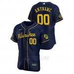 Camiseta Beisbol Hombre Milwaukee Brewers Personalizada Autentico 2020 Alternato Azul