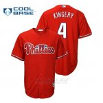 Camiseta Beisbol Hombre Philadelphia Phillies Scott Kingery Cool Base Fashion Majestic Official Scarlet