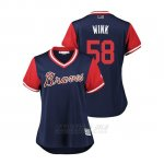 Camiseta Beisbol Mujer Atlanta Braves Dan Winkler 2018 Llws Players Weekend Wink Azul