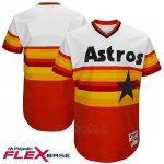 Camiseta Beisbol Hombre Houston Astros Blanco 1977 Turn Back The Clock Flex Base