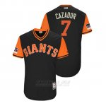 Camiseta Beisbol Hombre San Francisco Giants Gorkys Hernandez 2018 Llws Players Weekend Cazador Negro
