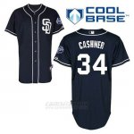 Camiseta Beisbol Hombre San Diego Padres Andrew Cashner 34 Azul Azul Alterno Cool Base