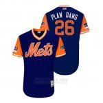 Camiseta Beisbol Hombre New York Mets Kevin Plawecki 2018 Llws Players Weekend Plaw Dawg Royal