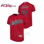 Camiseta Beisbol Nino Cleveland Indians 12 Francisco Lindor Cool Base Majestic Alternato Rojo