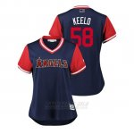Camiseta Beisbol Mujer Los Angeles Angels Akeel Morris 2018 Llws Players Weekend Keelo Azul