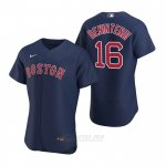 Camiseta Beisbol Hombre Boston Red Sox Andrew Benintendi Autentico Alterno 2020 Azul