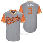 Camiseta Beisbol Hombre Baltimore Orioles 2017 Little League World Series 3 Ryan Flaherty Gris