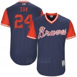 Camiseta Beisbol Hombre Atlanta Braves 2017 Little League World Series 24 Kurt Suzuki Azul