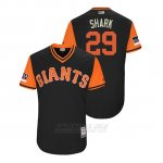 Camiseta Beisbol Hombre San Francisco Giants Jeff Samardzija 2018 Llws Players Weekend Shark Negro