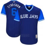 Camiseta Beisbol Hombre Toronto Blue Jays 2017 Little League World Series Marcus Stroman Royal