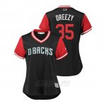 Camiseta Beisbol Mujer Arizona Diamondbacks Matt Andriese 2018 Llws Players Weekend Dreezy Negro