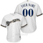 Camiseta Milwaukee Brewers Personalizada Blanco