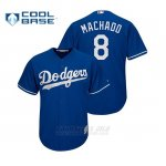 Camiseta Beisbol Hombre Los Angeles Dodgers Manny Machado Cool Base Official Majestic Alternato Royal