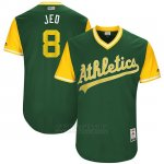 Camiseta Beisbol Hombre Oakland Athletics 2017 Little League World Series Jed Lowrie Verde