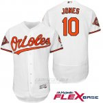 Camiseta Beisbol Hombre Baltimore Orioles 10 Adam Jones Blanco 2017 Flex Base