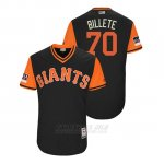 Camiseta Beisbol Hombre San Francisco Giants Julian Fernandez 2018 Llws Players Weekend Billete Negro