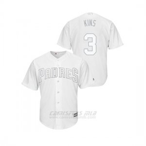 Camiseta Beisbol Hombre San Diego Padres Ian Kinsler 2019 Players Weekend Replica Blanco