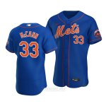 Camiseta Beisbol Hombre New York Mets James Mccann Alterno Autentico Azul