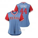 Camiseta Beisbol Mujer Texas Rangers Cory Gearrin 2018 Llws Players Weekend Ceegee Light Toronto Blue Jays