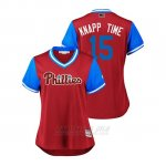 Camiseta Beisbol Mujer Philadelphia Phillies Andrew Knapp 2018 Llws Players Weekend Knapp Time Scarlet