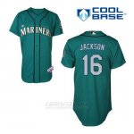 Camiseta Beisbol Hombre Seattle Mariners Austin Jackson 16 Teal Verde Alterno Cool Base